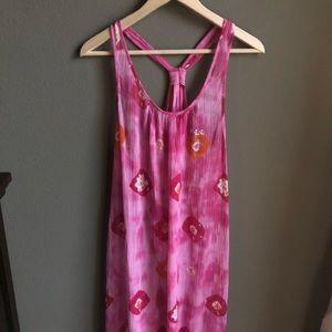 Lauren Ralph Lauren Maxi Dress Pink Purple Print